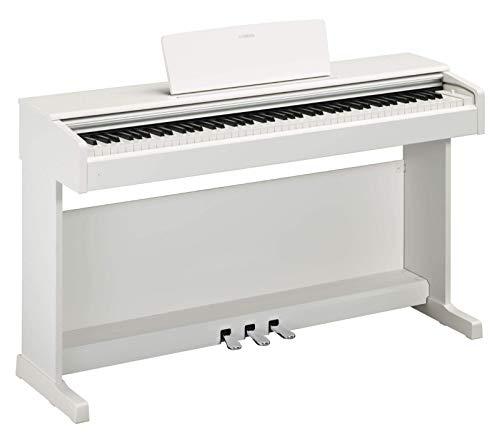 Yamaha Arius Digital Piano YDP-144WH, weiß – Elektronisches Klavier mit Hammermechanik, Konzertflügel-Klang & USB-to-Host-Anschluss – Kompatibel mit kostenloser App 'Smart Pianist'