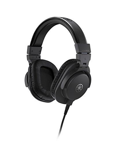 Yamaha HPH-MT5 Studio-Kopfhörer – Faltbare Monitor-Kopfhörer mit 3 m Kabel und 6,3 mm Standard-Stereo-Adapterstecker – Schwarz