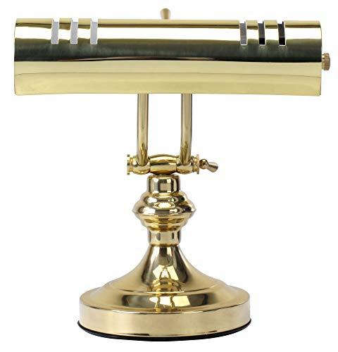 Classic Cantabile L3-A Messing Klavierleuchte (robuste Pianoleuchte, E27-Fassung für Glühbirnen oder Energiesparlampen)