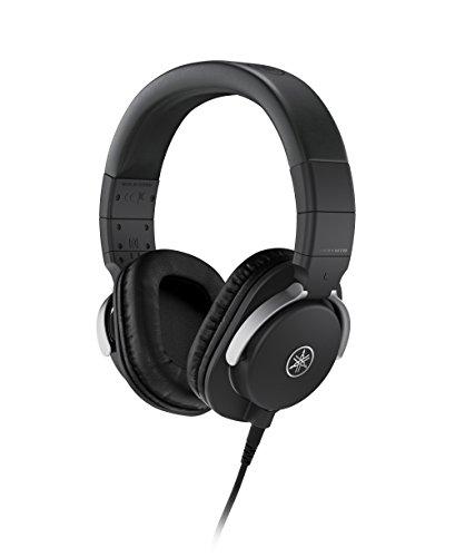 Yamaha HPH-MT8 Studio-Kopfhörer – Faltbare High End Kopfhörer mit 3 m Kabel (glatt) und 1,2 m Spiralkabel mit 6,3 mm Standard-Stereo-Adapterstecker – Schwarz