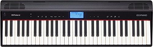 Roland GO-61P Digital Piano, Schwarz - Kabelloser Smartphone-Anschluss, Zugang zu Online-Inhalten und schnelleres Lernen