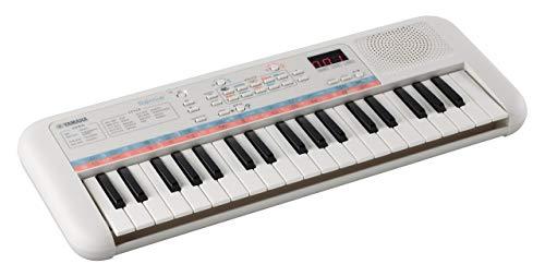 Yamaha Remie PSS-E30 Mini Keyboard, weiß – Kompaktes, tragbares Keyboard für Kinder mit Mini-Tastatur und tollem Klang – Mit Mini-Kopfhöreranschluss