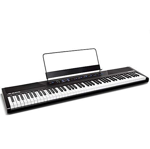 Alesis Recital - 88-Tasten Einsteiger Digital Piano / E Keyboard mit halbgewichteten Tasten,eingebauten 20 Watt Lautsprechern und fünf Premium-Stimmen, 3-Monatsabo Skoove und Netzteil inbegriffen